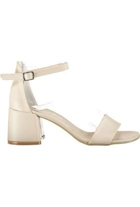 Pembe Potin Alyssa Bej Kadın Ayakkabı