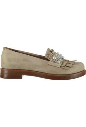 Pembe Potin Ella Vizon Nubuk Kadın Ayakkabı
