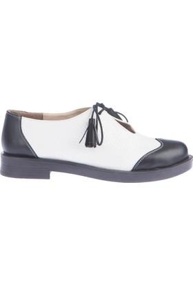 Pembe Potin Victoria Siyah Beyaz Kadın Ayakkabı