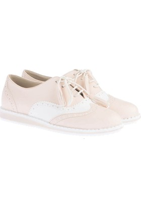 Pembe Potin Julie Bej Kadın Ayakkabı