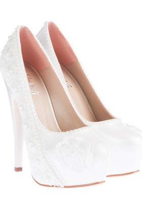 Pembe Potin Elyse Beyaz Kadın Ayakkabı