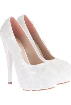 Pembe Potin Erica Beyaz Kadın Ayakkabı
