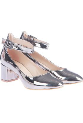 Pembe Potin Candy Platin Kadın Ayakkabı