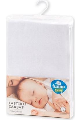 Funna Baby Çarşaf Süprem Lastikli 60 x 120 cm Beyaz