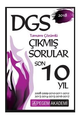 Pegem Yayınları 2018 DGS Tamamı Çözümlü Çıkmış Sorular Son 10 yıl