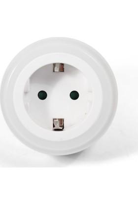Sensörlü Prizli Led Gece Lambası Beyaz