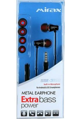 Mirax Extra Bass Mikrofonlu Metal Kulaklık - Siyah (Apple&Android Uyumlu,Konuşma&Müzik Kontrolü) - mirax SSE-3150