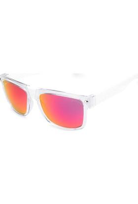 Baendit Ned Kelly Unisex Saydam Çerçeve Kırmızı Lens Beyaz Kulaklık Modülleri