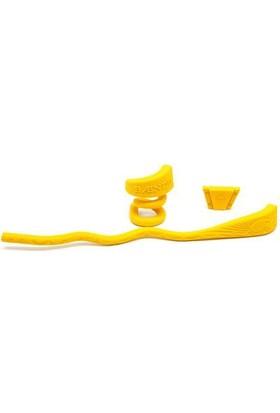Baendit Ned Kelly Unisex Saydam Çerçeve Kırmızı Lens İnce Sarı Kulaklık Modülleri