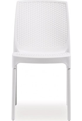 Novussi Sunny Rattan Sandalye Beyaz R.009