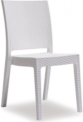 Novussi Nice Rattan Sandalye Beyaz R.007