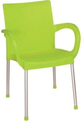 Holiday Plastik Yeşil Sümela Koltuk Hk-420 (6 adet)