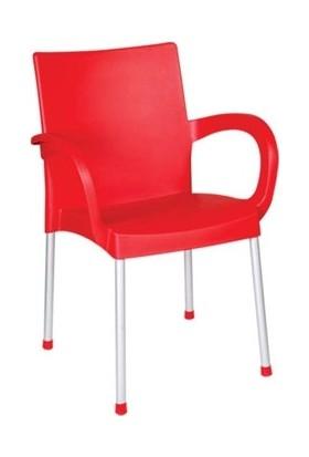 Holiday Plastik Kırmızı Sümela Koltuk Hk-420 (6 adet)