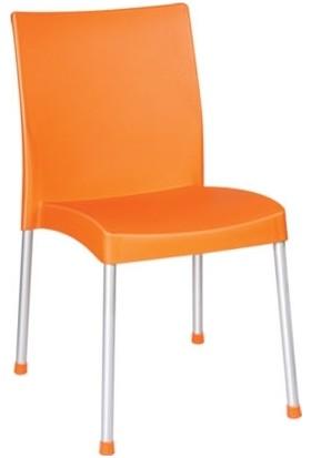 Holiday Plastik Turuncu Assos Sandalye Hk-410 (6 adet)