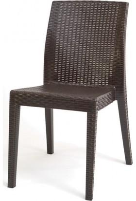 Yücel Plastik Siena Kolsuz Sandalye - Kahverengi