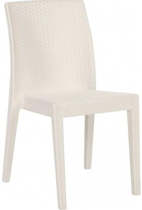 Yücel Plastik Siena Kolsuz Sandalye - Beyaz