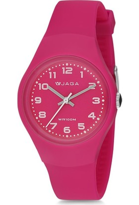 Jaga Aq1153-Oggx Su Geçirmez Rakamlı Kız Çocuk Kol Saati