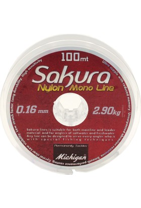 Sakura Copolymer Monofilament Misina 100 m - 0,10 mm