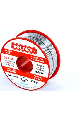 Soldex 60-40 Lehim Teli 200 Gr 0,50 mm