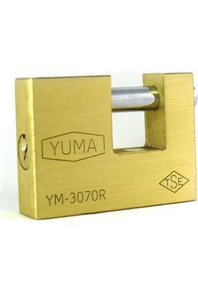 Yuma Kayar Milli Pirinç Asma Kilit 80mm