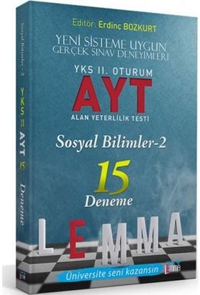 Yargı Lemma Yayınları YKS 2. Oturum AYT Sosyal Bilimler-2 15 Deneme - Z. Engin Demir