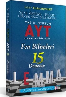 Yargı Lemma Yayınları YKS 2. Oturum AYT Fen Bilimleri 15 Deneme - Raif Kavilcioğlu