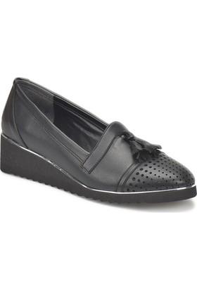 Miss F Ds18026 Siyah Kadın Dolgu Topuk