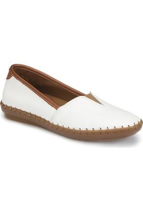 Polaris 81.108870.Z Beyaz Kadın Deri Basic Comfort