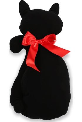 Sepet Diyarı Siyah Kedi Yastık