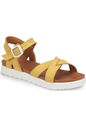 Polaris 81.508159.F Sarı Kız Çocuk Basic Sandalet