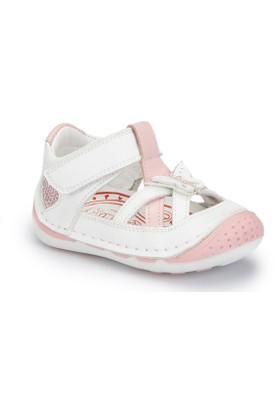 Polaris 81.510008.I Beyaz Kız Çocuk Deri Sneaker Ayakkabı