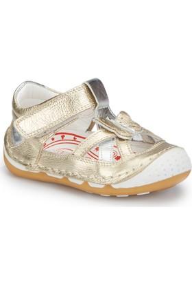 Polaris 81.510008.I Altın Kız Çocuk Deri Sneaker Ayakkabı