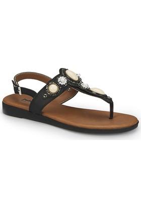 Polaris 81.311522.Z Siyah Kadın Sandalet
