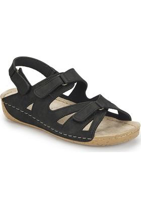 Polaris 81.158532.Z Siyah Kadın Basic Comfort Sandalet