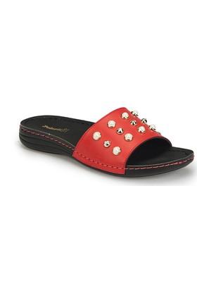 Polaris 81.158563.Z Kırmızı Kadın Basic Comfort Terlik