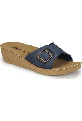 Polaris 81.158745.Z Mavi Kadın Basic Comfort Terlik