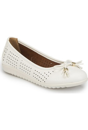 Polaris 81.158425.Z Beyaz Kadın Basic Comfort Babet