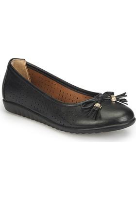 Polaris 81.158425.Z Siyah Kadın Basic Comfort Babet