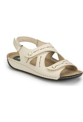 Polaris 81.158557.Z Bej Kadın Basic Comfort Sandalet