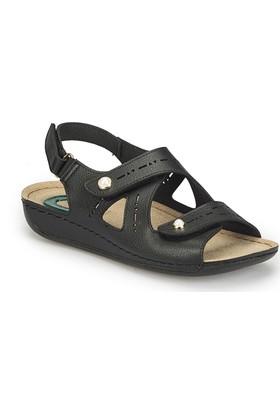Polaris 81.158557.Z Siyah Kadın Basic Comfort Sandalet
