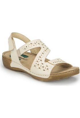 Polaris 81.158518.Z Bej Kadın Basic Comfort Sandalet