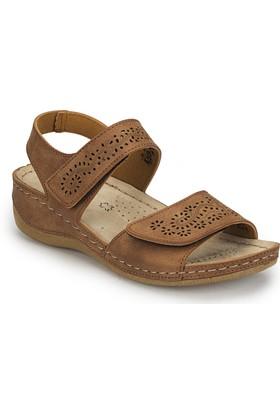 Polaris 81.157359.Z Taba Kadın Basic Comfort Sandalet