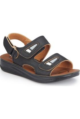 Polaris 81.509051.F Siyah Erkek Çocuk Basic Sandalet