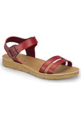 Polaris 81.158659.Z Kırmızı Kadın Basic Comfort Sandalet
