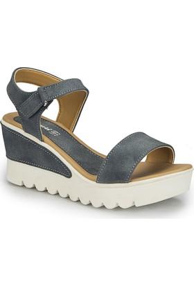Polaris 81.309983.Z Mavi Kadın Sandalet