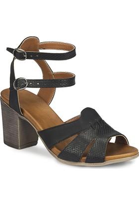 Polaris 81.311576Yz Siyah Kadın Sandalet
