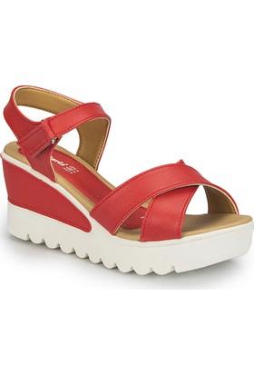 Polaris 81.308569.Z Kırmızı Kadın Sandalet