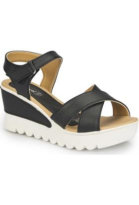 Polaris 81.308569.Z Siyah Kadın Sandalet