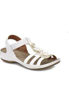 Polaris 81.157362.Z Beyaz Kadın Basic Comfort Sandalet