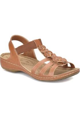Polaris 81.157362.Z Taba Kadın Basic Comfort Sandalet